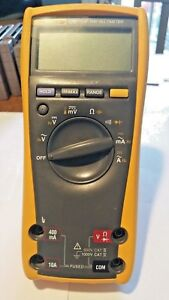Used Fluke 179 True Rms Digital Multimeter With Fluke Brand Test Leads probes