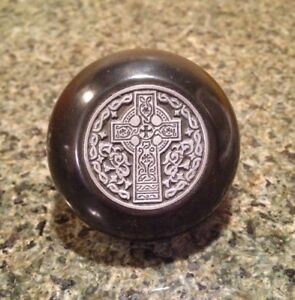 Celtic Cross Bakelite Shift Knob Irish Style Trinity Knot Filigree Pendant