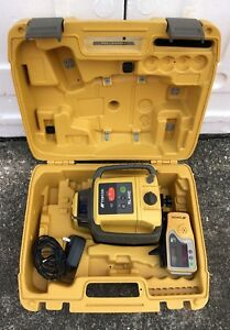Topcon Rl h4c Self leveling Rotary Laser With Ls 80l Receiver great Shape