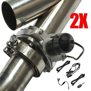2 5 63mm Remote Control Y Header Catback Pair Electric Exhaust Cutout Pipe Kit