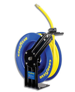 Goodyear Heavy Duty Retractable 3 8 X 50 Mountable Air Hose Reel