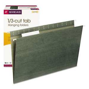Smead 1 3 Tab Legal Green Hanging Folders pack Of 25
