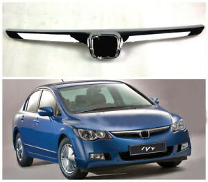 Abs Chromed Front Upper Grill Bumper Mesh Grille Grill For Honda Civic 2006 2008