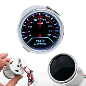 2 52mm 12v Led Auto Car Volt Voltage Gauge Meter Monitor Voltmeter Universal Us
