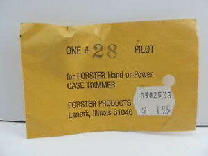 Forster Products #28 Case Trimmer Pilot for Hand or Power Trimmer