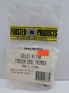 Forster Products Collet #1 Case Trimmer Part # CT2001