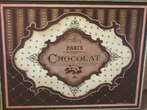 Paris France Picture Chocolate Antique Silver Gilt Patisserie Shop Shabby French