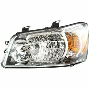 Headlight For 2004 2006 Toyota Highlander Left With Bulb Clear Lens Composite
