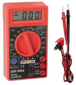 Lot Of 20 Digital Lcd Multimeter Amps Ohm Volt Ac dc Tester Science Electronics