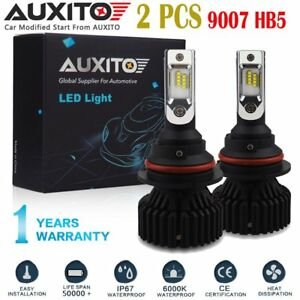 2 Pc Auxito 9007 Led Headlight Bulbs Hi lo Beam For Dodge Ram 1500 2500 3500 Eoa