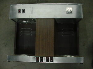 Used 3 Burner Bunn Coffee Maker Commercial Pour O Matic Warmer