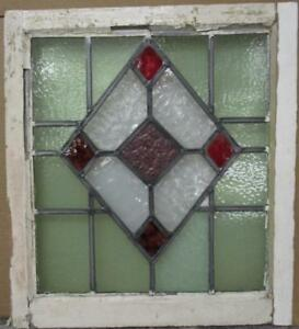 Mid Size Old English Leaded Stained Glass Window Gorgeous Diamond 21 25 X 23 5
