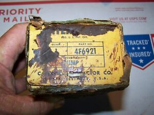 Caterpillar Tractor Injector Pump 4f6921 New Old Stock In Orig Cosmoline Box