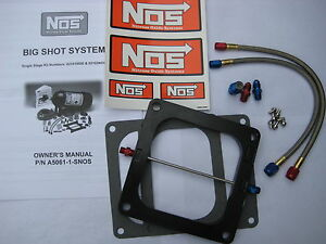 Nos nitrous nx zex edelbrock Bigshot Holley Dominator Plate Kit 175 375 hp new
