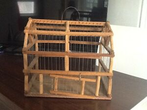 Primitive Wood Wire Decorative Cage Weathered Rusty Home Farm Cabin Kustom