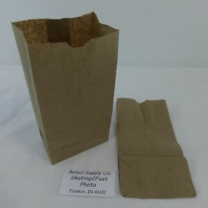 2 Paper Brown Kraft Natural Sack Lunch Grocery Retail Bags