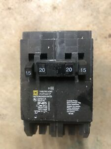 Set Of 4 Square D Homeline 2 15a 1 pole 1 20a 2 pole Quad Circuit Breaker