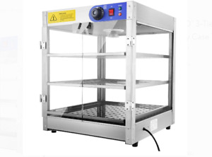 Countertop Display Warmer Case Commercial 24x20x15 Inch Pastry Food Pizza