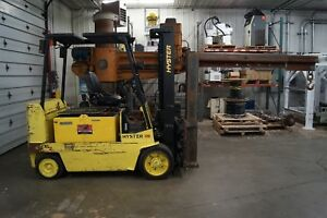1997 Hyster E120xl 2 12 000 Lbs Electric Forklift Rigger Hilow W Rigging Boom