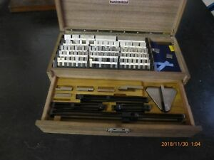 Starrett Webber Model Rc88aax Croblox Chromium Carbide Gage Block Set