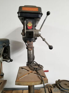 12 Used Craftsman Bench Top Drill Press 137 219120 A3704