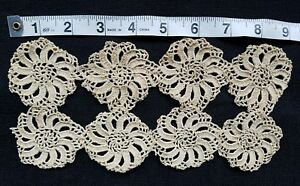 A15 Antique Vtg Lace Trim Insert Crochet Sewing French Doll Prim Salvage