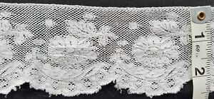 A26 Antique French Edwardian 20s Wide Lace 26 5 Edging Trim Sew Costume