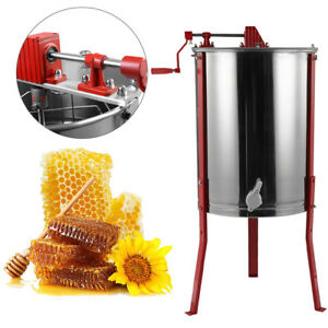 Stainles Steel Honey Extractor Separator Honeycomb Spinner Drum Manual Equipment