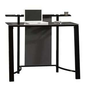 Sauder Furniture Mirage Desk With Tempered Glass Top Black Sf 411969 open Box