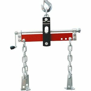 Engine Hoist Lift Load Leveler 1500 Lbs Motor Balancing Heavy Duty Chain Crank