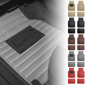 Universal Fitment Floor Mats For Car Suv Leather Stripe Design 5 Colors
