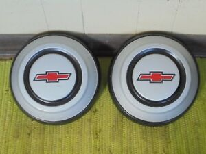 1968 Chevy Dog Dish 10 1 2 Hubcaps Set Of 2 C10 Pickup Truck 1 2 Ton 68 Hu