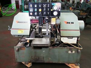Phoenix 10 Automatic Horizontal Band Saw Model No Pa10 Id S 028