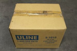 Uline 12 X 18 Poly Bags 2 Mil Industrial Clear Plastic S 1010 1 000 ctn