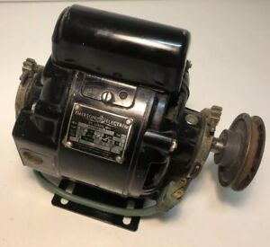 Antique Emerson Electric Motor Ks60mh 1127 With 1 3 Hp 1725 Rpm W pulley works
