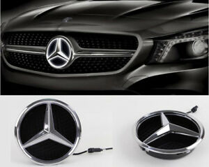 Illuminated Led Light Front Grille Star Emblem Badge For Mercedes Benz 2011 2016
