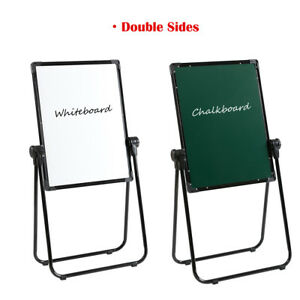 U stand Dry Erase Board Magnetic Kids Flipchart Easel Double Sides 24 x18