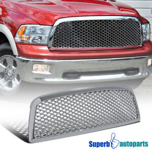 2009 2012 Dodge Ram 1500 Abs Mesh Front Hood Grille Chrome