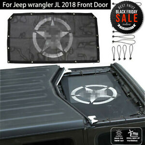 Car Roof Top Mesh Sunshade Front Door Cover Uv Protection For Jeep Wrangler Jl
