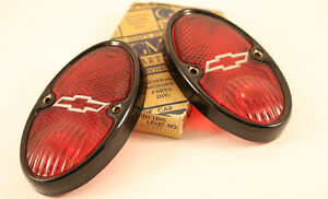 1 Pair 1937 Chevrolet Pickup Truck Tail Lamp Light Nos Reduced Price