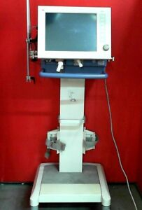 Drager Evita Xl Ventilator With Rolling Stand Cart Arxm 0469
