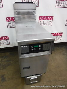 Pitco Sfssh55 Gas 50 Lbs Digital Deep Fryer With Filtration System