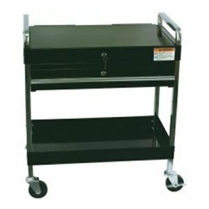 Sunex Tool Service Cart With Locking Top And Drawer Black Sun8013abk