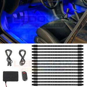 Ledglow 14pc Blue Expandable Smd Led Interior Under Dash Lights Lighting Kit