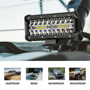 7 Inch 400w Cree Led Work Light Bar Flood Combo Driving Offroad Tractor 4wd Suv