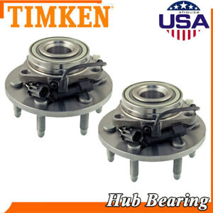 Timken 2 Front Wheel Hubs And Bearings For Chevrolet Silverado Suburban 1500 Awd
