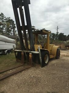 30lb Forklift Hyster 8ft Forks 4 Cylinder Detroit Engine needs Bra