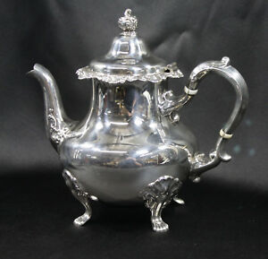 Gorham Strasbourg Pattern Sterling Silver Tea Pot Model 1142 2 3 8 Pint 751 4g