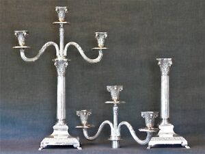 Pair Sterling Silver Candelabra