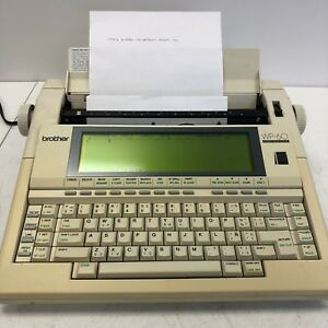 Brother Wp 60 Word Processor Electric Typewriter Tested And Working